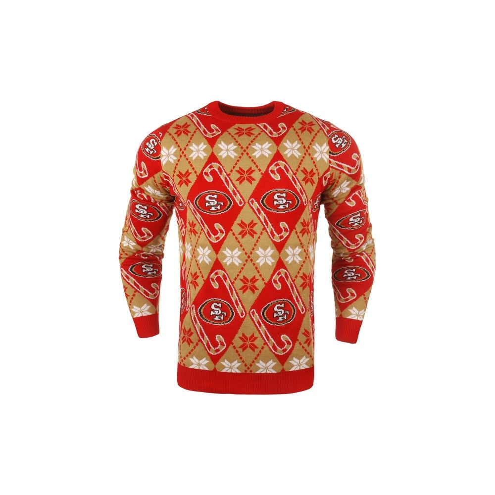 Forever Collectibles Nfl San Francisco 49ers Candy Cane Ugly Sweater