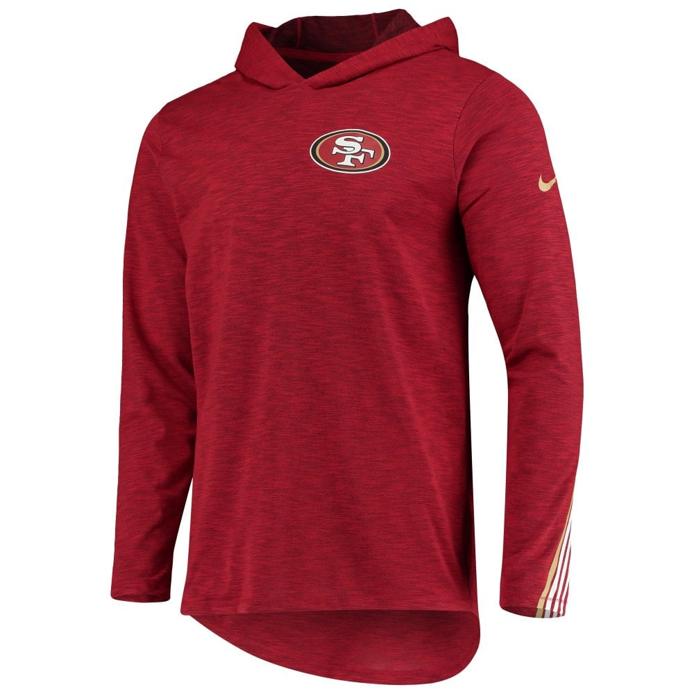Nike NFL San Francisco 49ers Sideline Scrimmage Performance T Shirt Sweat à capuche